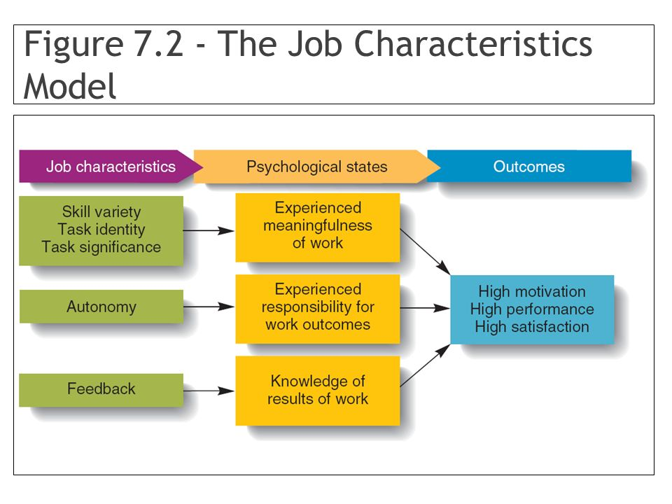 Figure 7.2 - The Job Characteristics Model