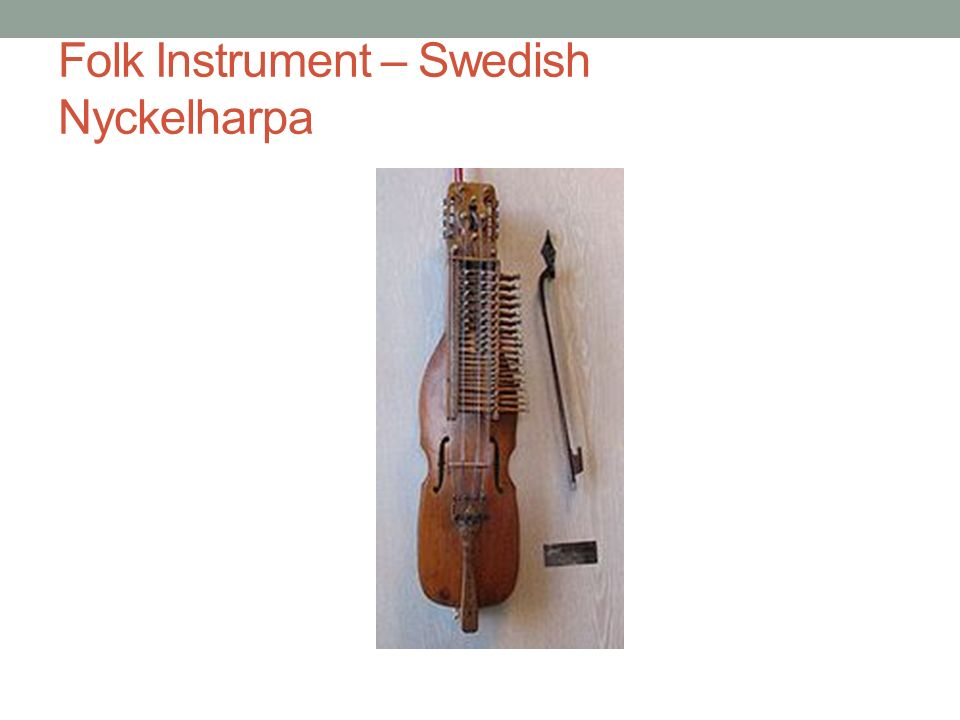 Folk Instrument – Swedish Nyckelharpa