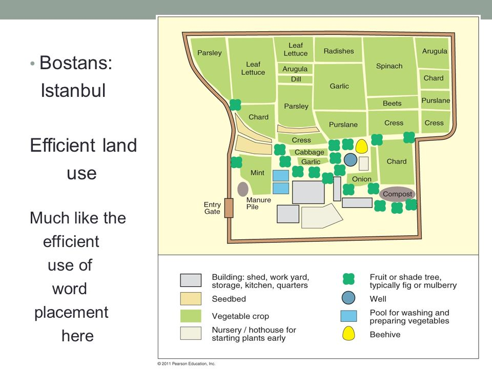 Bostans: Istanbul Efficient land use Much like the efficient use of word placement here