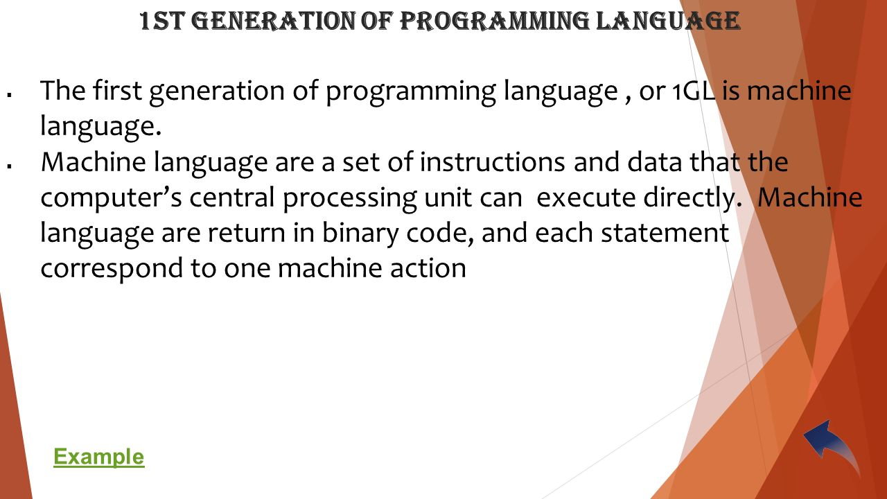 1st generation of programming language essay