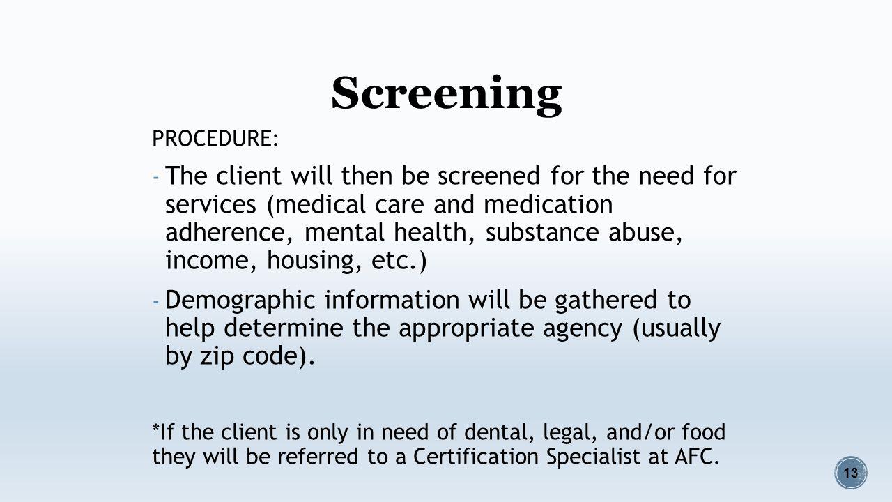 Outcome 1 clients access medical case management services 13 screening xflitez Choice Image