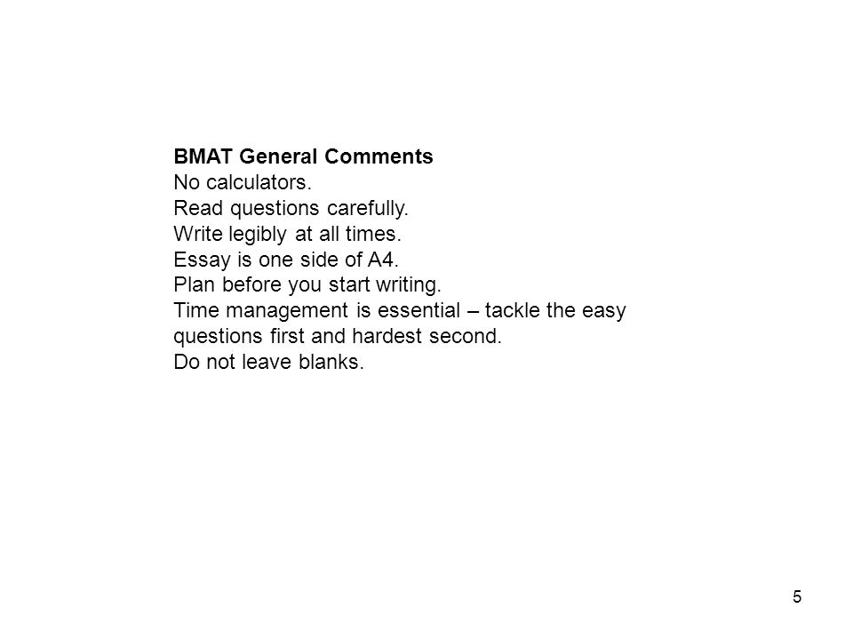 structure of bmat essay