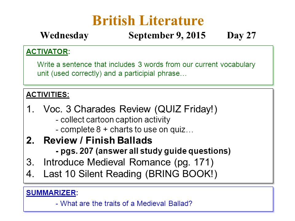 literature review headings example