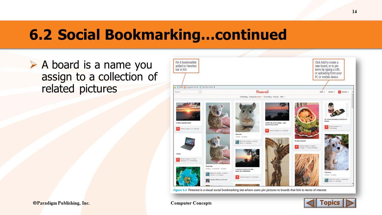 Computer Concepts 14 Topics  Paradigm Publishing, Inc.