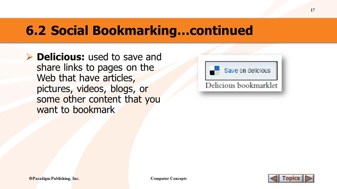 Computer Concepts 17 Topics  Paradigm Publishing, Inc.