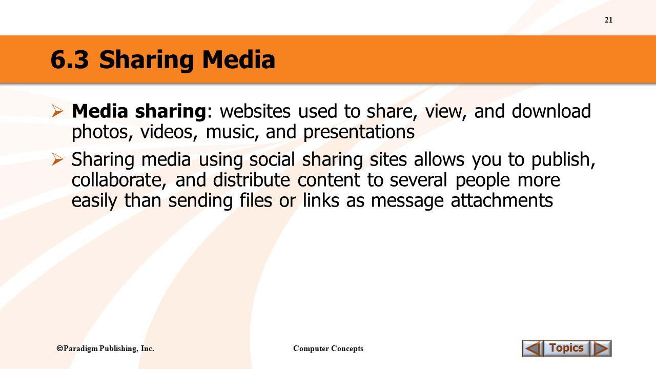 Computer Concepts 21 Topics  Paradigm Publishing, Inc.