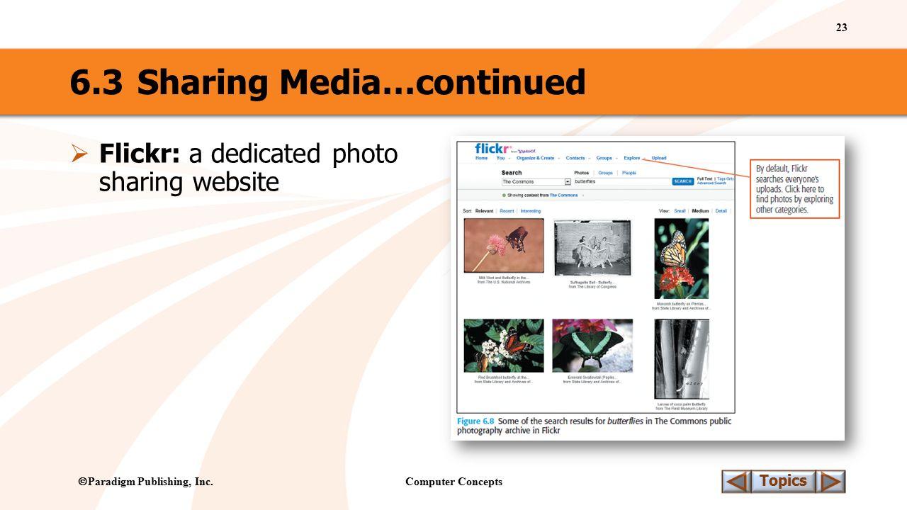 Computer Concepts 23 Topics  Paradigm Publishing, Inc.