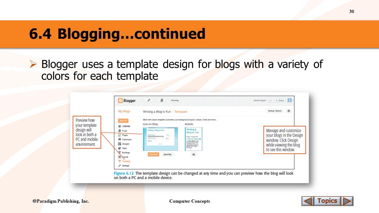 Computer Concepts 30 Topics  Paradigm Publishing, Inc.