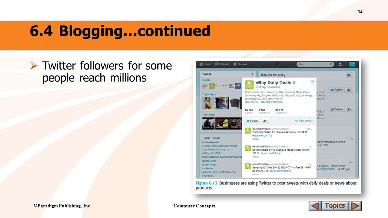 Computer Concepts 34 Topics  Paradigm Publishing, Inc.