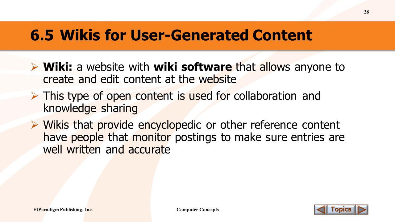 Computer Concepts 36 Topics  Paradigm Publishing, Inc.