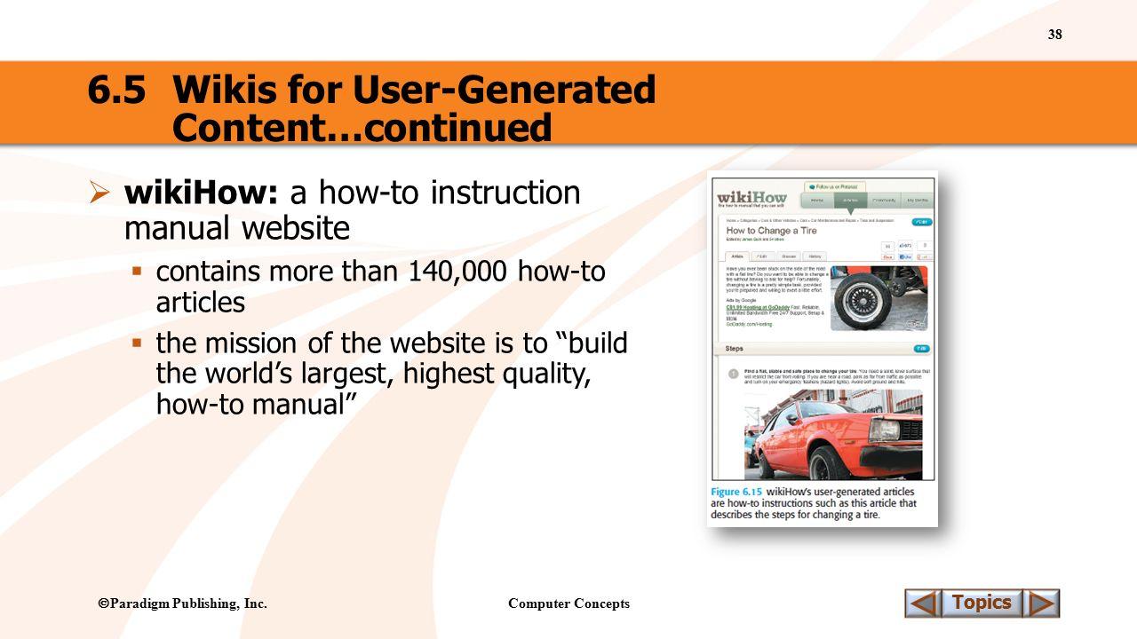 Computer Concepts 38 Topics  Paradigm Publishing, Inc.