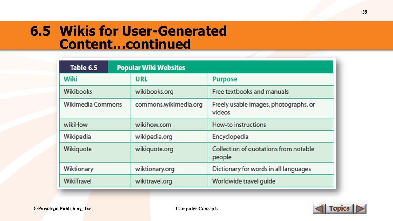 Computer Concepts 39 Topics  Paradigm Publishing, Inc.