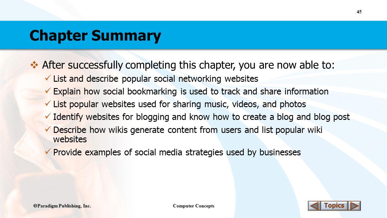 Computer Concepts 45 Topics  Paradigm Publishing, Inc.