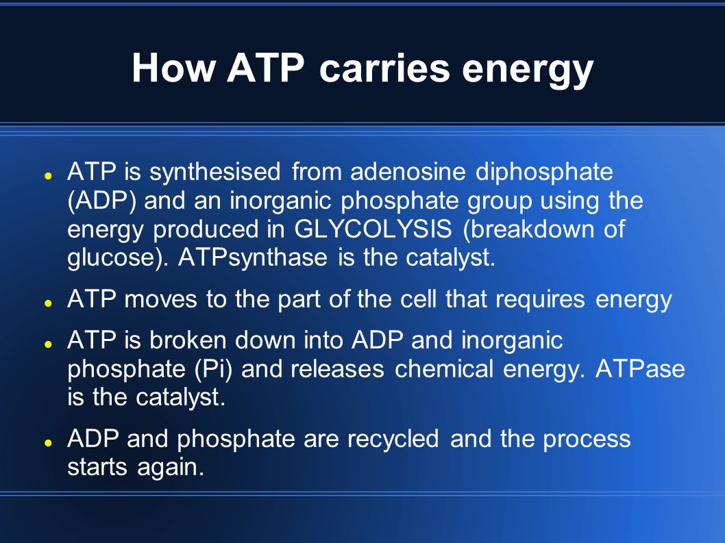 RESPIRATION OCR A2 Biology F214. Energy and the role of ATP Cells ...