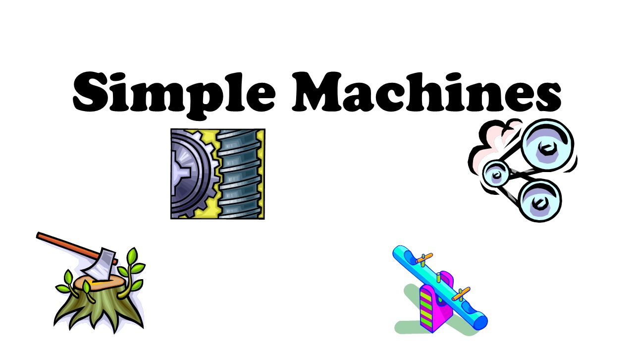 simple machines There are 6 kinds of simple machines, with few or none moving parts learn about how these machines are used in your daily lives.