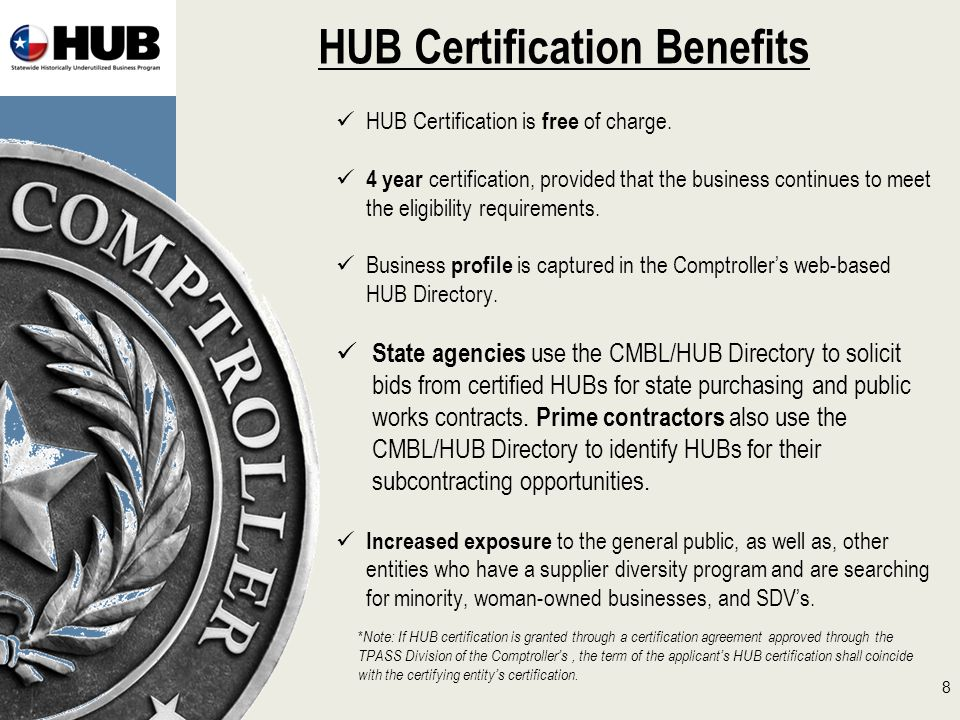 Texas comptroller of public accounts statewide historically hub certification benefits hub certification is free of charge platinumwayz