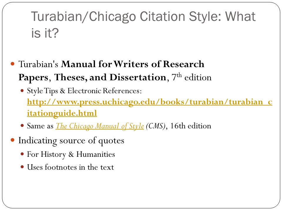 turabian style citations Find out how to deal with your paper in various styles read our turabian citation guide to make the proper citation format for your bibliography.