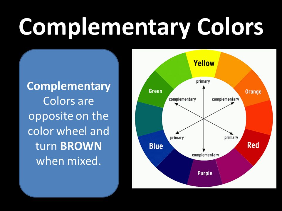 11 Complementary Colors Are Opposite On The Color Wheel And Turn BROWN When Mixed