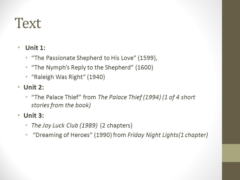 a comparison of the passionate shepherd to his love and the nymphs reply to the shepherd The nymph's reply to the shepherd 5 comparison (against shepherd walter raleigh in response to christopher marlowe's the passionate shepherd to his love.