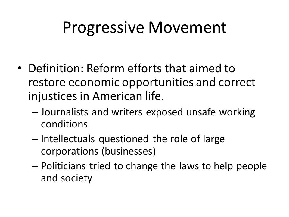 an introduction to the origins of progressivism in the late 1800s