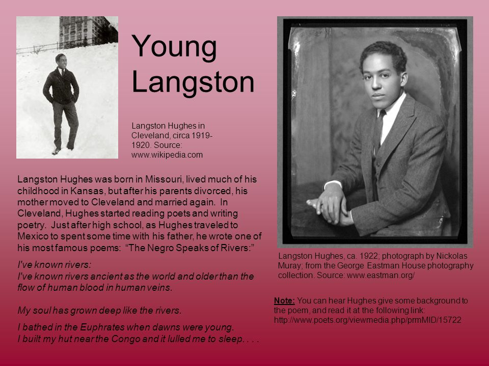 acceptance analysis by langston hugh Technical analysis of democracy literary devices and the technique of langston hughes.