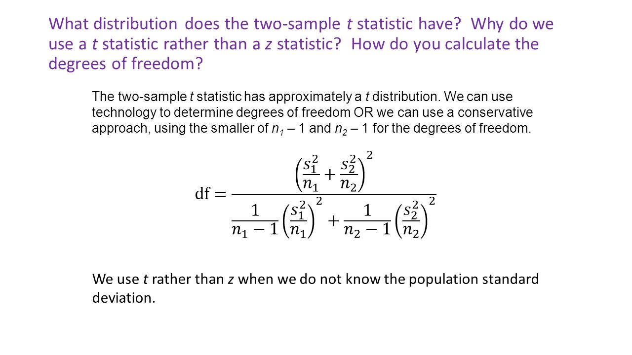 Download How To Calculate Standard Deviation On Ti 83 What Distribution  Does The Twosample T Statistic Have