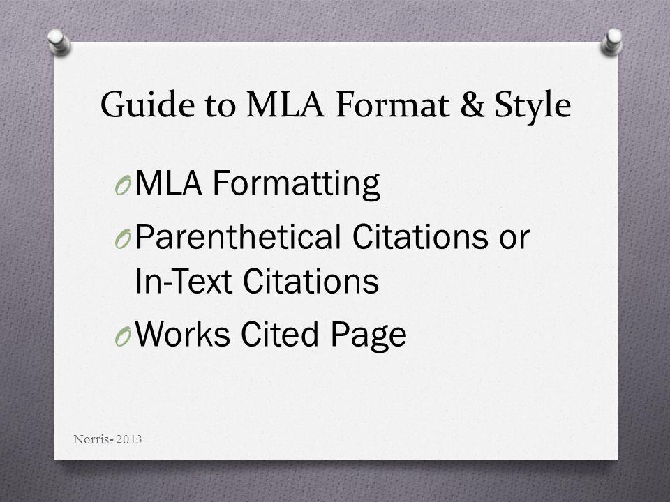 in cite citations mla