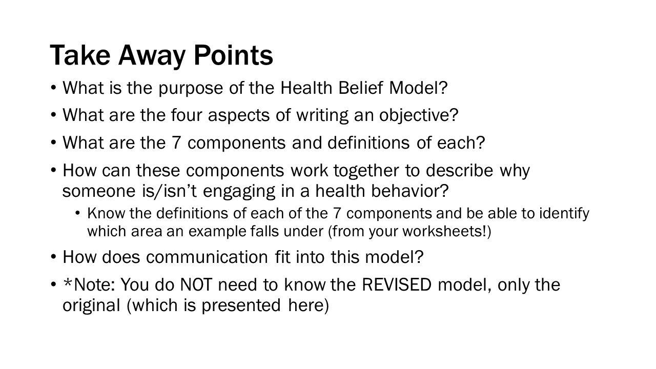 Health Belief Model Health Communication Theories Ppt Download