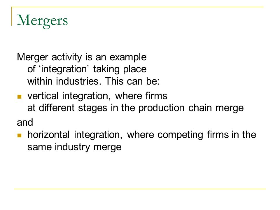 mergers and takeover This will be a regularly curated list of mergers and takeovers involving well-known businesses we hope it will help students to find examples of acquisitions.