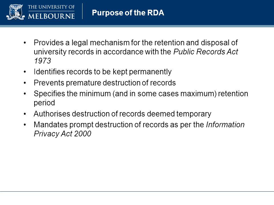 University of melbourne records retention and disposal authority 3 purpose toneelgroepblik Choice Image