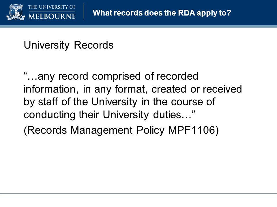 University of melbourne records retention and disposal authority 4 what toneelgroepblik Choice Image
