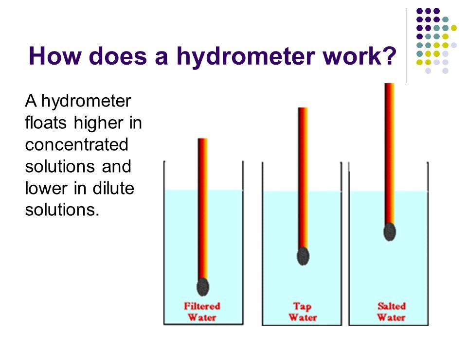 hydrometer diagram. how does a hydrometer work. diagram