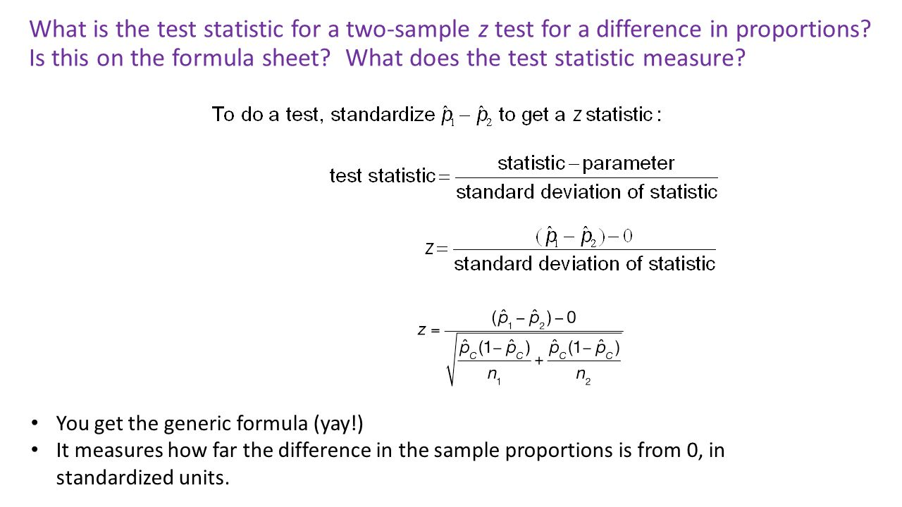 What Is The Test Statistic For A Twosample Z Test For A Difference In Standard  Deviation Of Sample