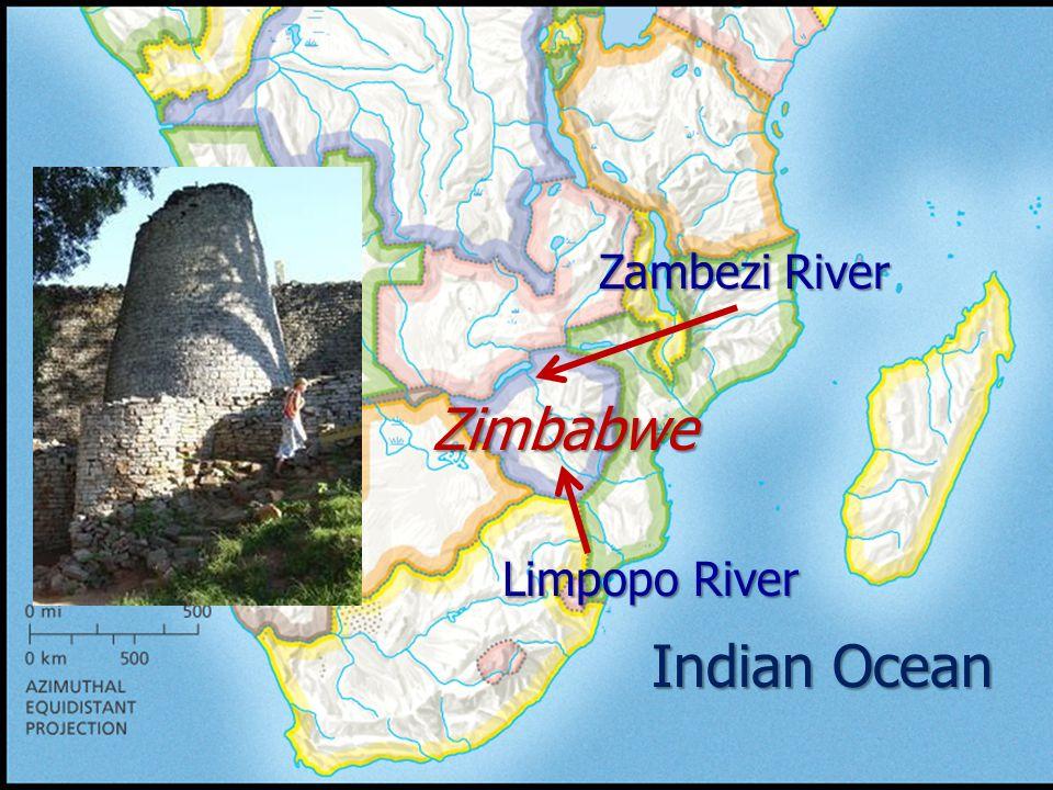 Indian Ocean Zimbabwe Zambezi River Limpopo River