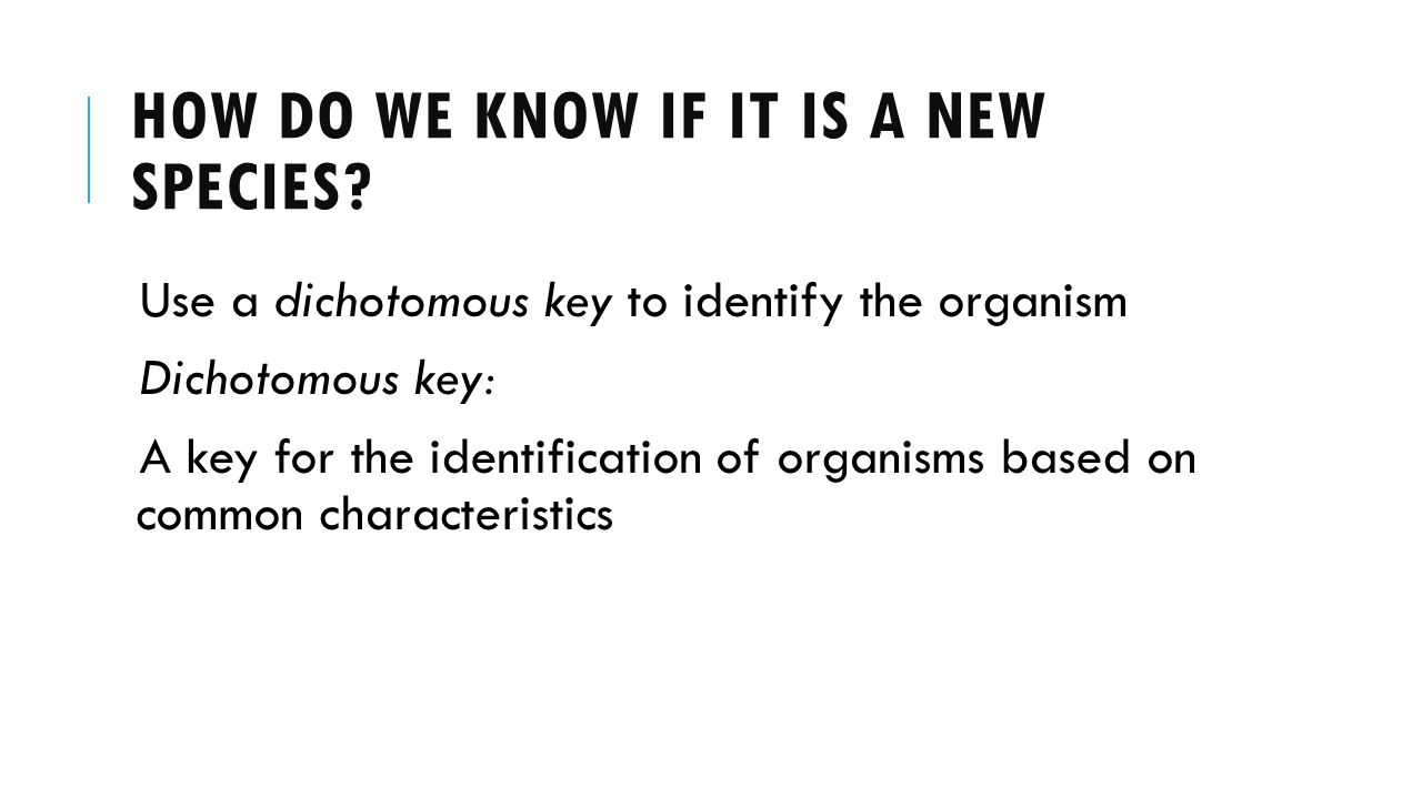 the purpose of identifing unknown organism using dichotomous key Start studying microbiology test 1 learn vocabulary explain the purpose of using immersion oil with the immersion oil objective dichotomous key.
