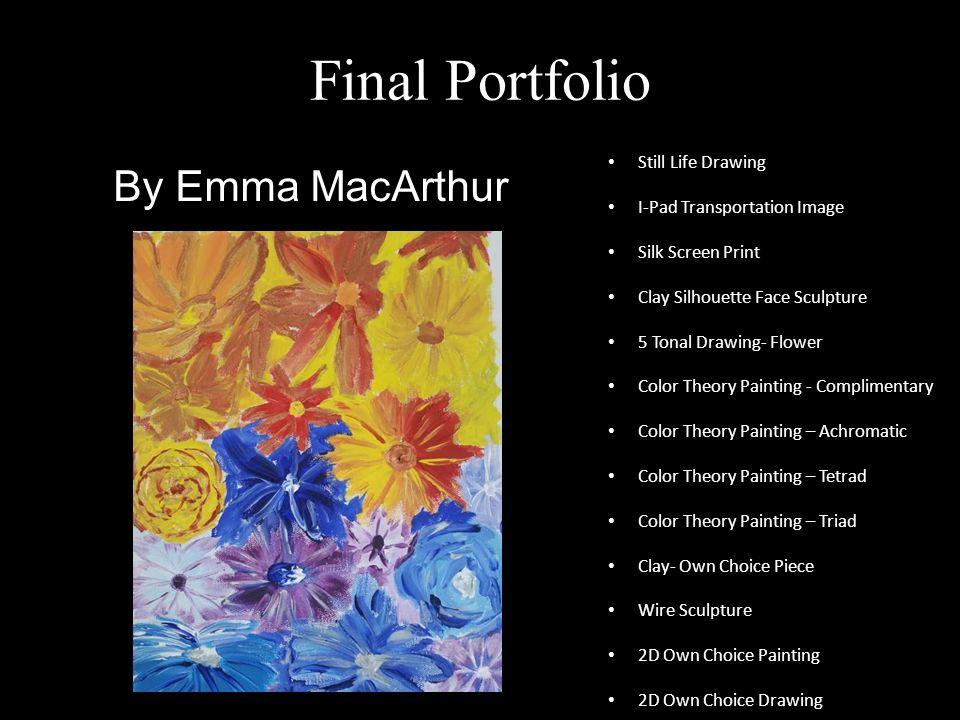 final portfolioemma macarthur still life drawing i-pad, Presentation templates