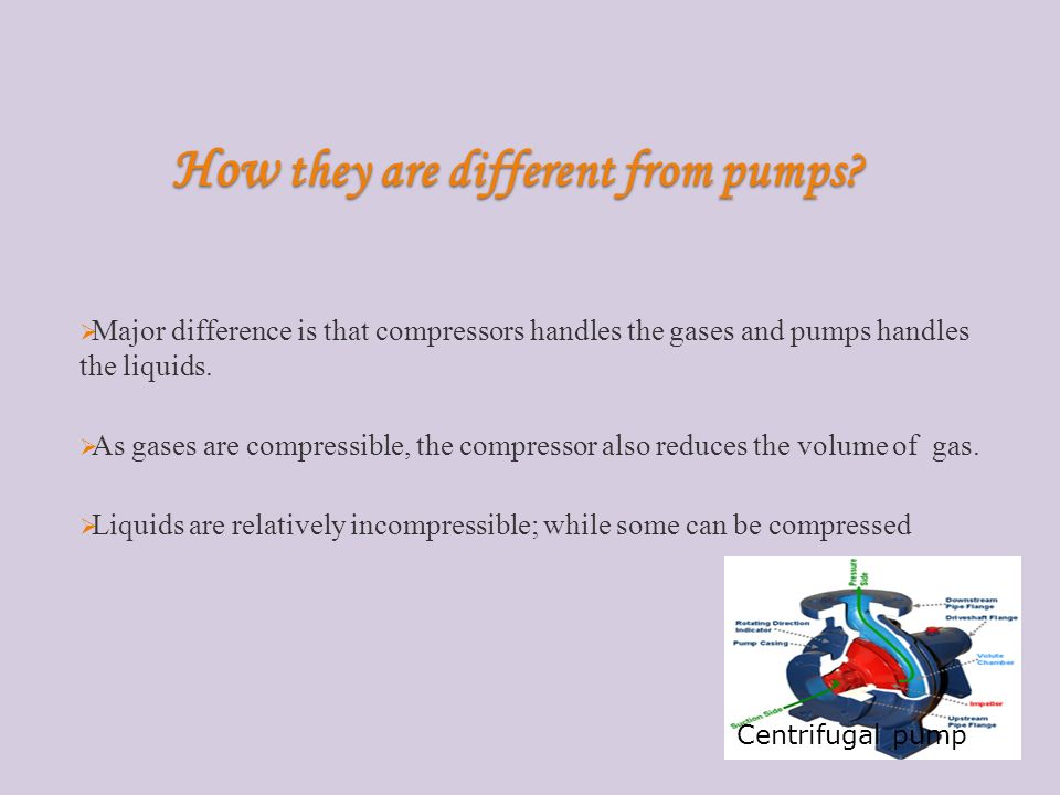 How they are different from pumps.