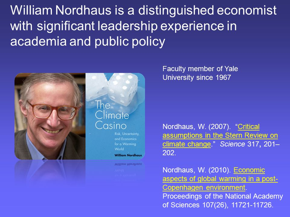 Image result for william nordhaus yale