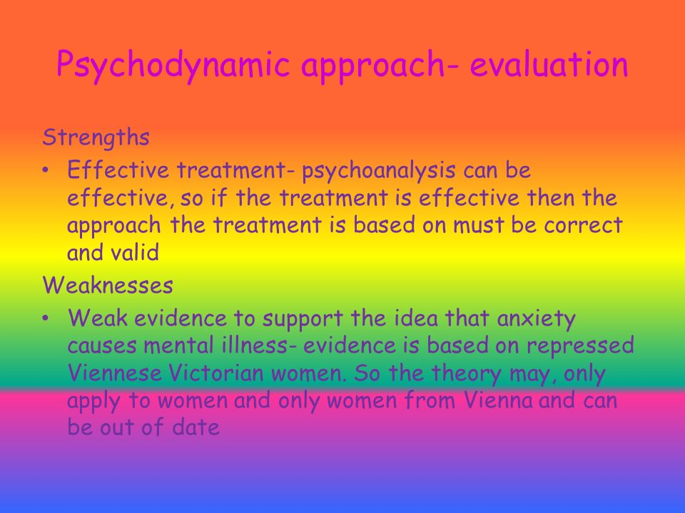 psychodynamic approach the basics Harbor ucla pgy 2&3 seminar 2011-2012 bgrosjean md setting: patients attend five 45/50 minute sessions at the heart of the psychodynamic approach is.