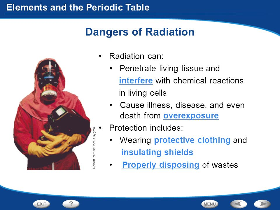 58 elements and the periodic table dangers of radiation radiation can penetrate living - Living Periodic Table Activity