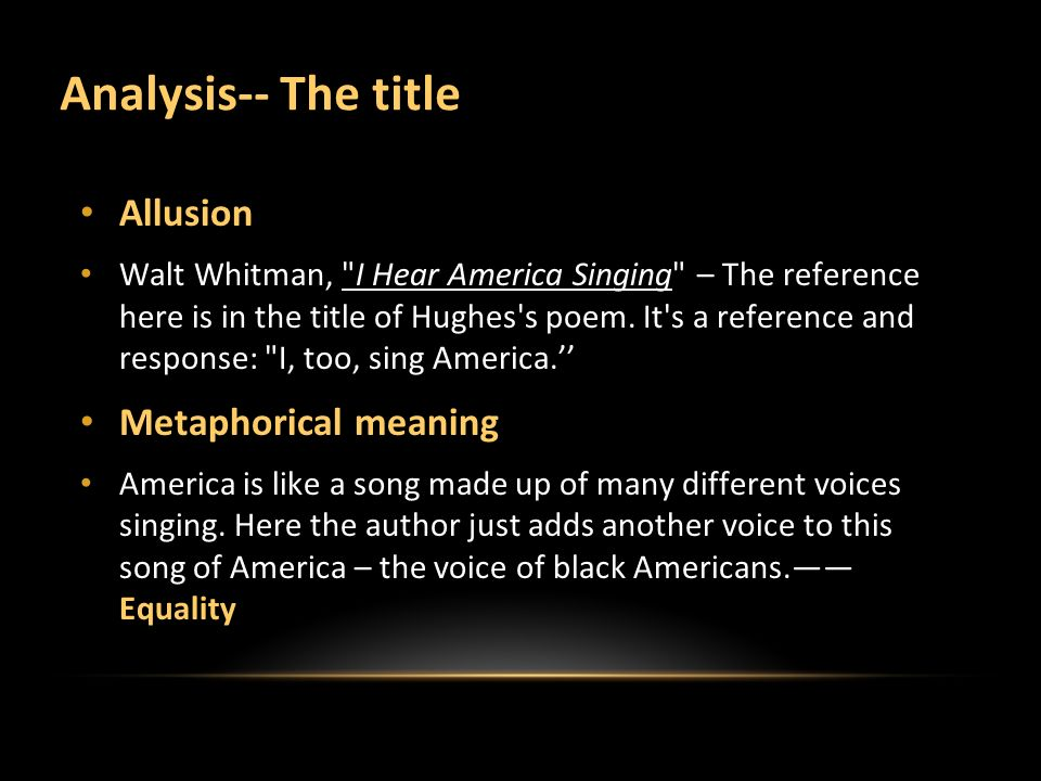 langston hughes i too sing america essay