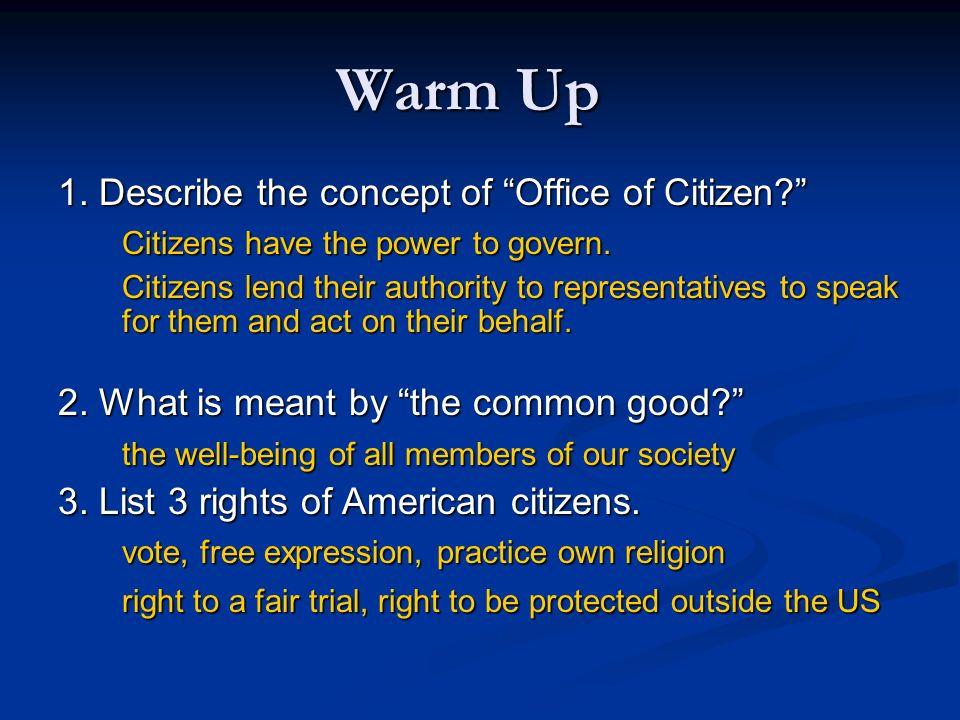 citizen office concept. describe the concept of office citizen citizens have power to