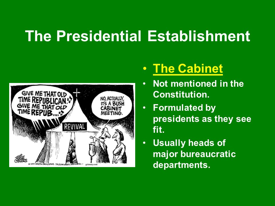 The Presidency Chapter 8. The Presidency Lecture Outline ...