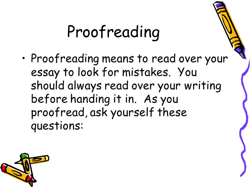 essay on proofreading