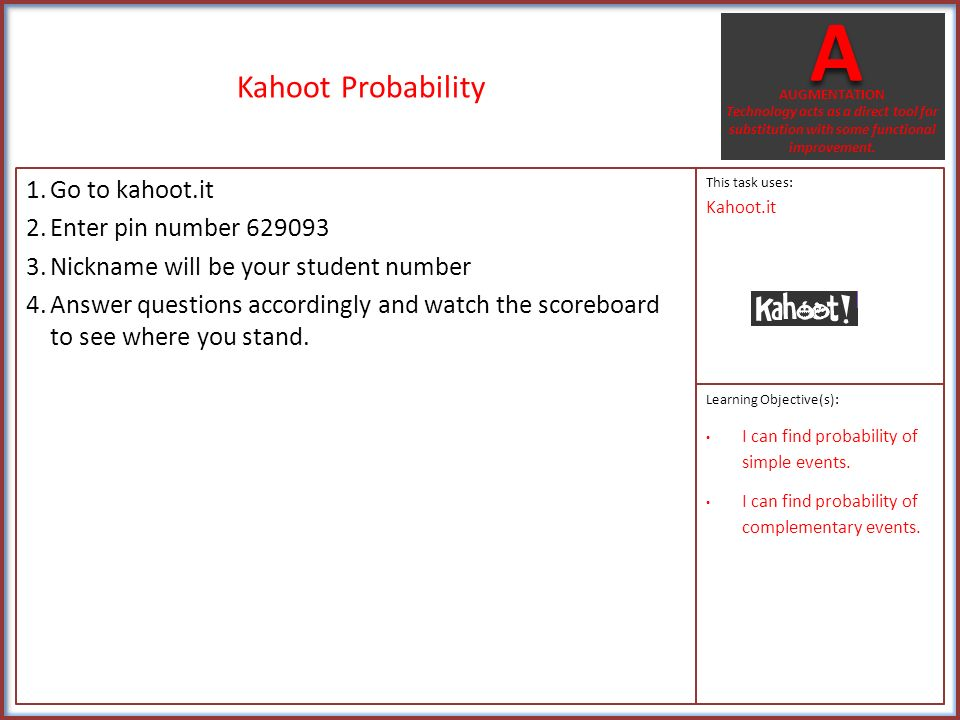 Probability Vocabulary 1.Open the Flashcardlet app. 2.Click ...