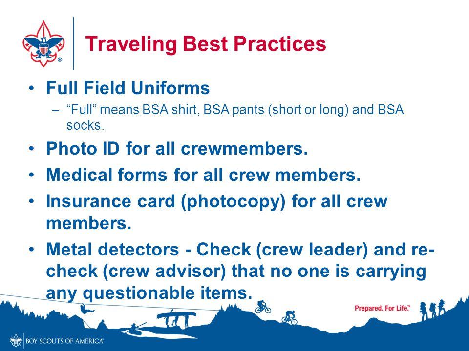 Traveling Best Practices Full Field Uniforms U2013 Full Means BSA Shirt, BSA  Pants (short