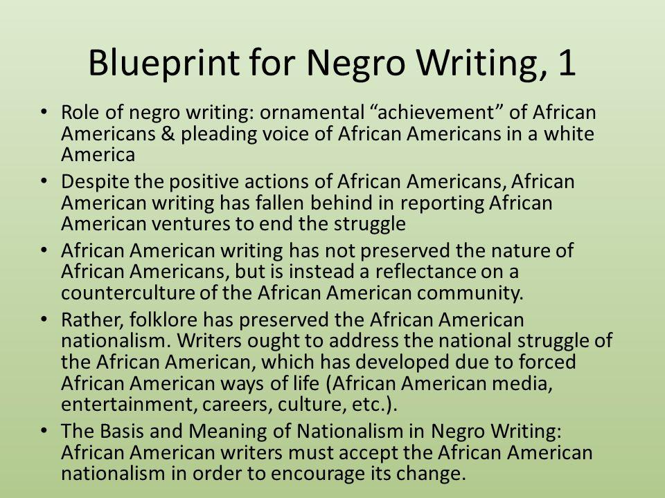 Richard wright eric hansen january 8 life of richard wright 1 6 blueprint for negro writing malvernweather Gallery