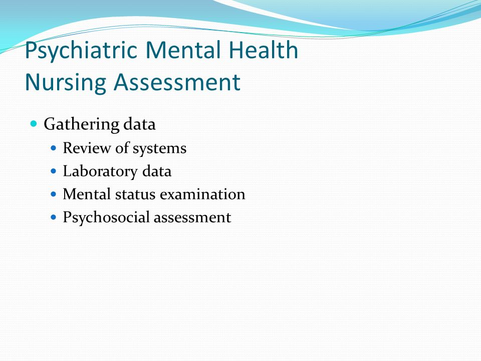 Foundations Of Psychiatric  Mental Health Nursing A Clinical