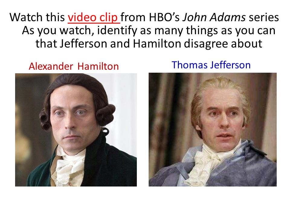 Compare the presidencies of Washington, Adams, and Jefferson.?