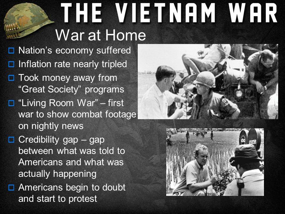 The Vietnam War Years Section  US Involvement Escalates - Living room war